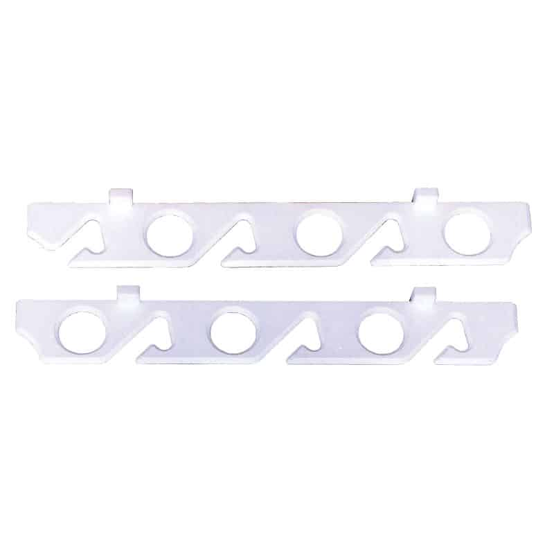 Rod Storage Rack White Polymer 6 Rods