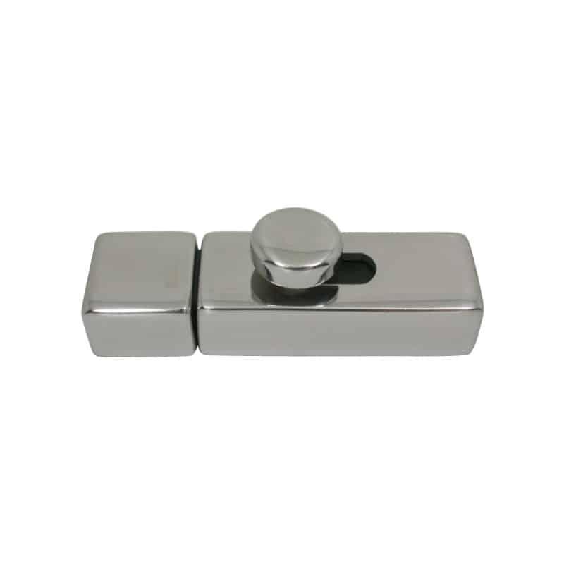 Barrel Bolt Square Line Cast S/S 90mm