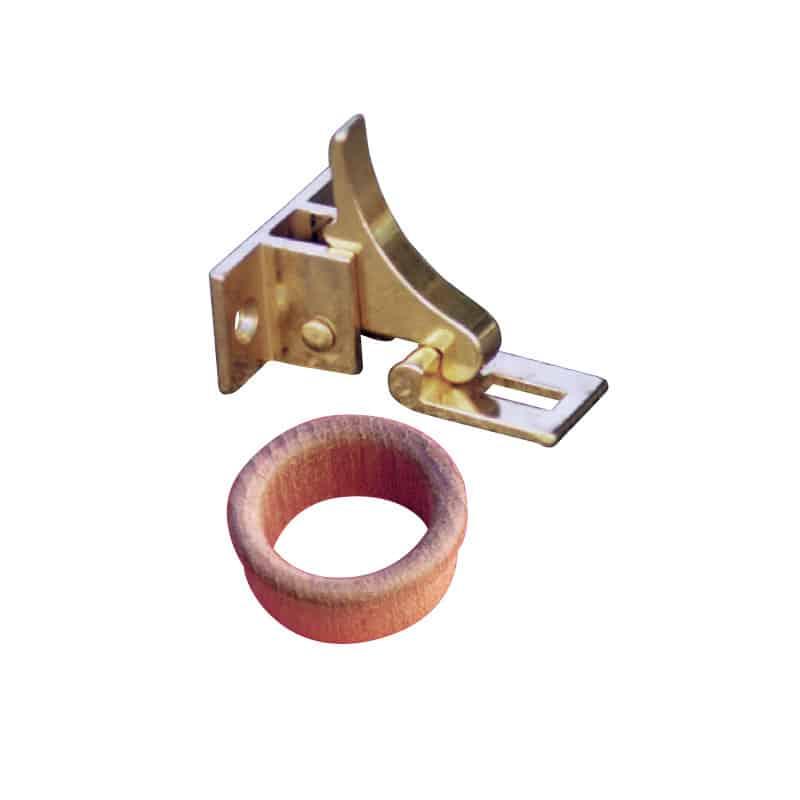 Catch Finger Brass C/W Teak Ring
