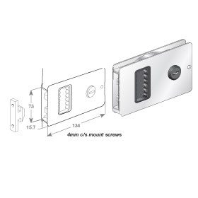 Lock Door Flush Sliding S/S
