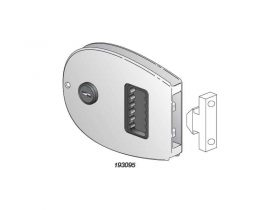 Lock Door Flush Sliding C/W Key Oval S/S