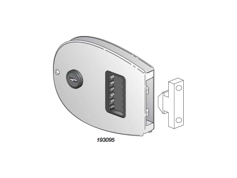 Lock Door Flush Sliding C/W Key Oval S/S