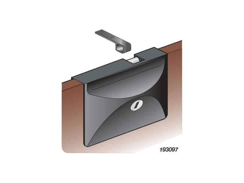 Lock Door/Hatch Sliding C/W Lock White