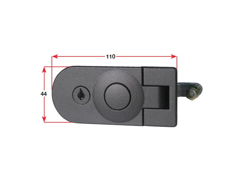 Catch Door Lever C/W Lock C/P Zinc Alloy