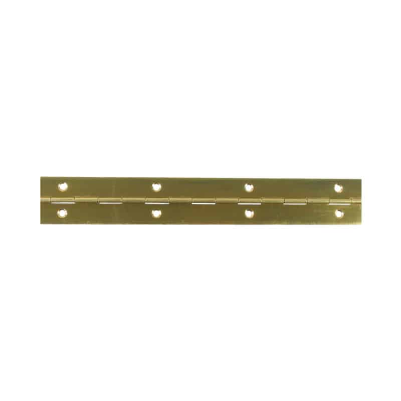Hinge Piano Predrilled Brass 31X2000mm