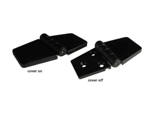 Hinge Covered Black Reinforced 82X41mm Pr