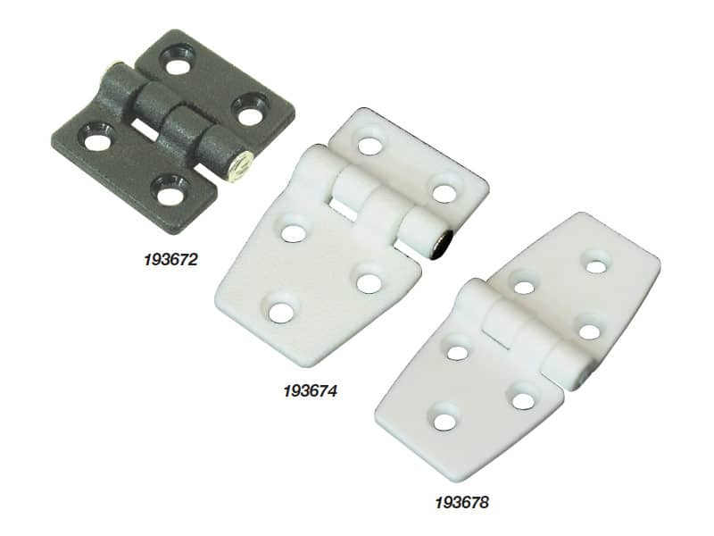 Hinge White Nylon 40X37mm Pr