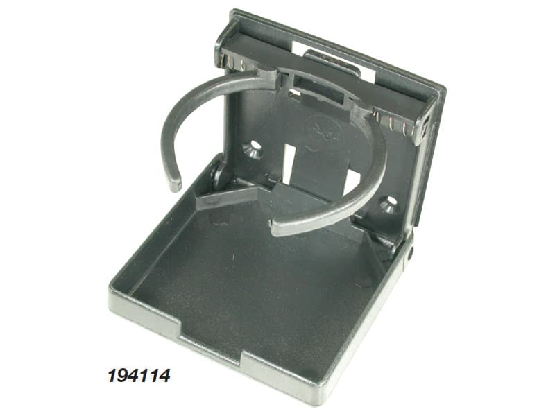Drink Holder Folding Adjustable Black Plas