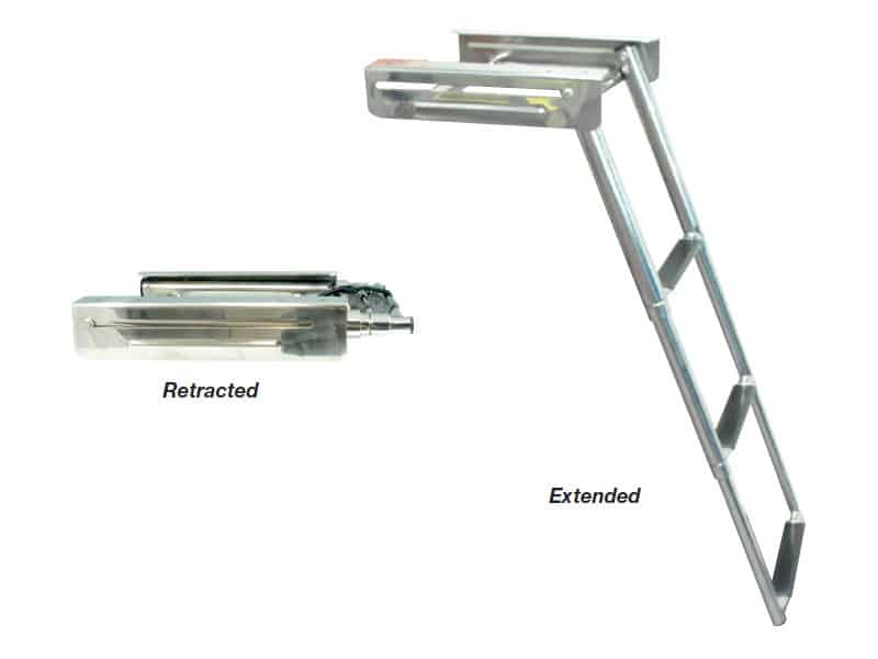 Ladder Retract Under Duckboard 3Step S/S