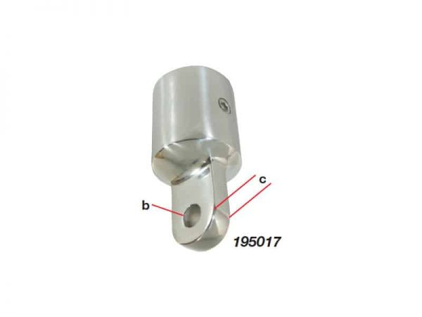 Canopy Bow End Ext S/S  22mm-7/8
