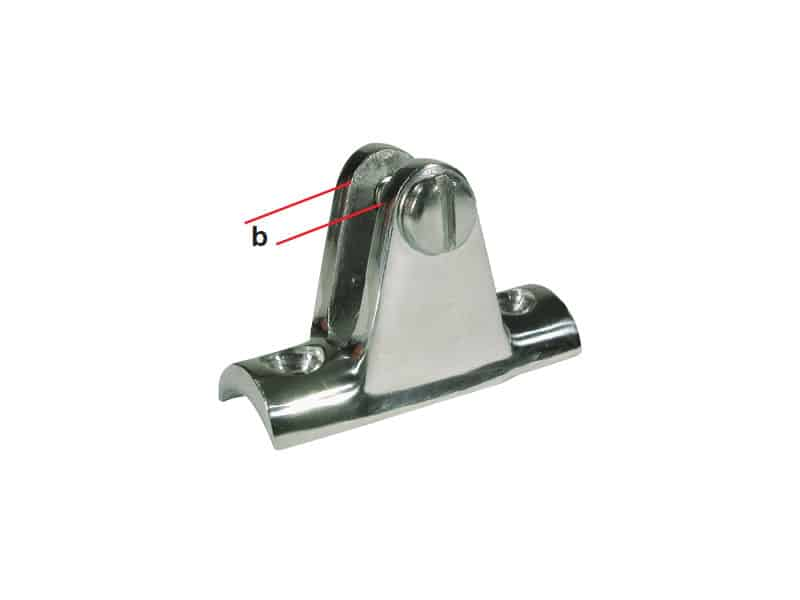 Canopy Rail Mount S/S Curved Base