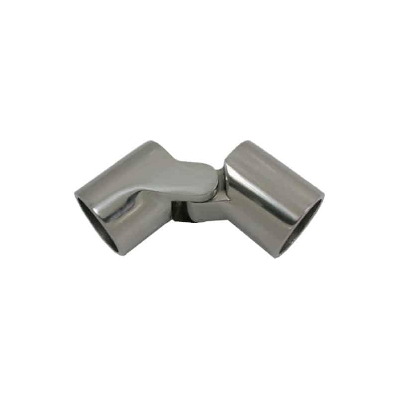 Canopy Tube Hinge S/S 25mm-1 No Pin
