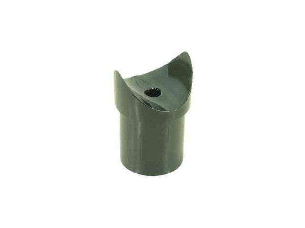 Canopy Tube End Tee Black Nylon 25X1.6mm