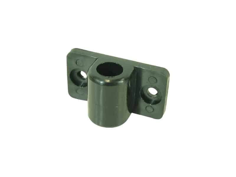 Mount Bracket  Tube End Post Black Nyl