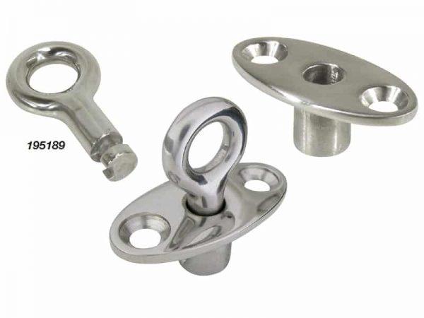 Ring Flush Mount Key Lock Cast S/S