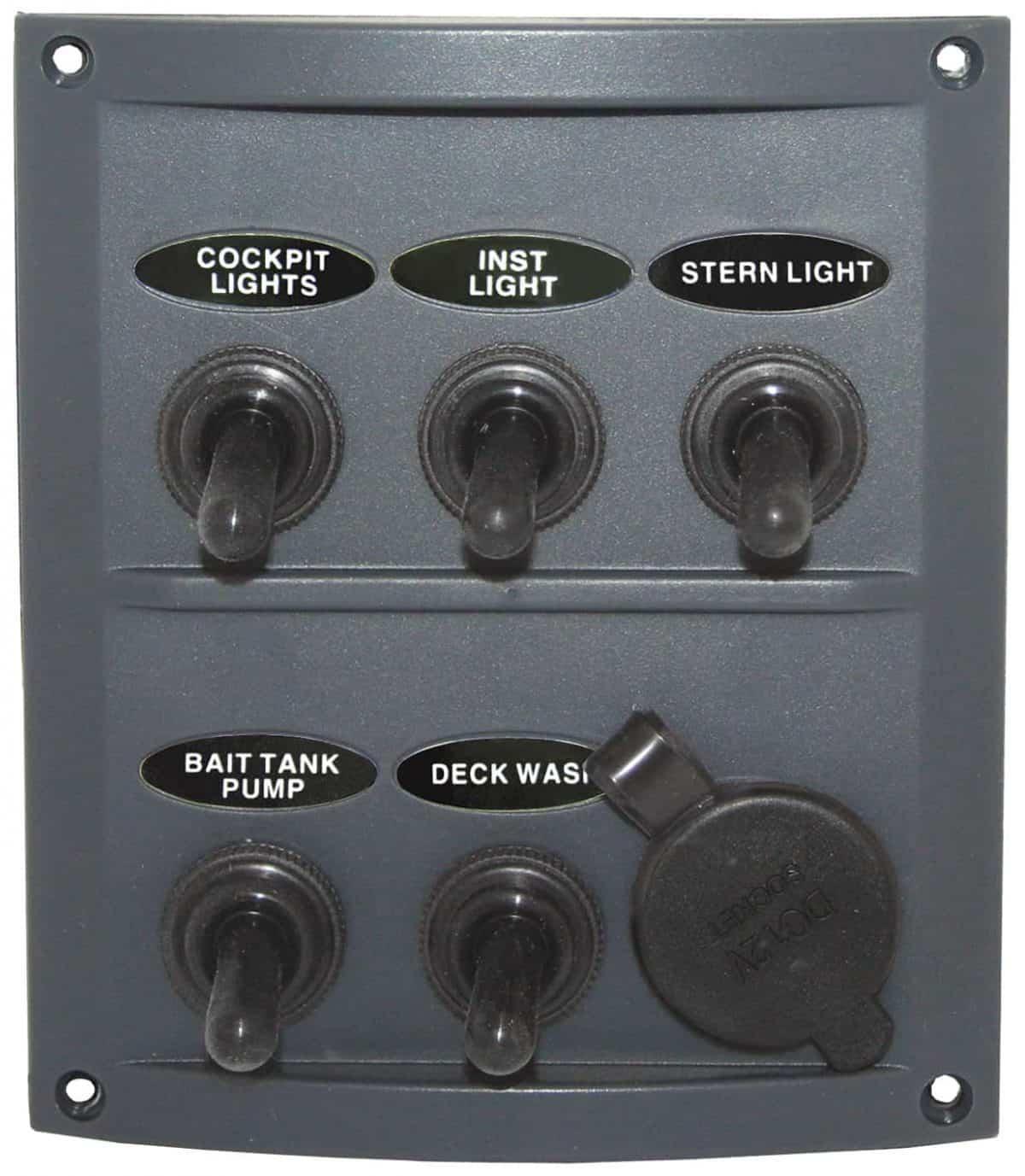 5 Switch Splash proof Panel