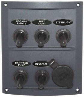 5 Switch Splash proof Panel