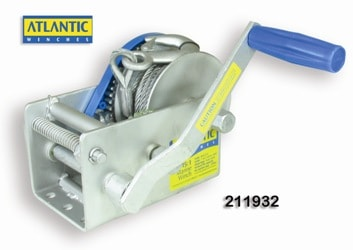 Winch Atlantic Trlr 15/5/1:1 6mm Cable