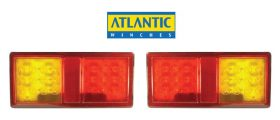 214021 Atlantic LED Trailer Lights - Submersible Waterproof Pair