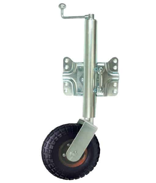 Jockey Wheel 250mm Pneumatic Swingaway