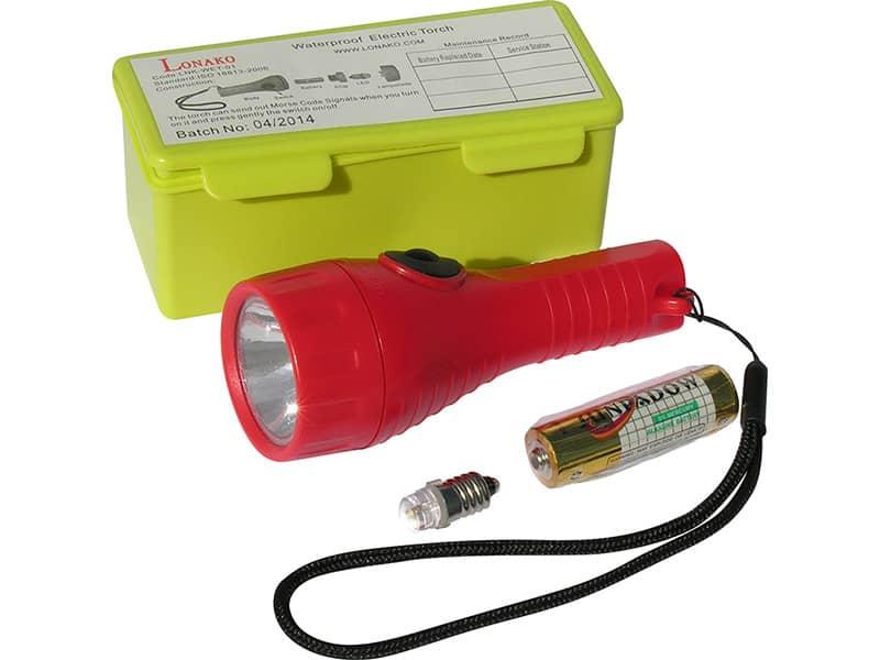 Torch Led Waterproof Incl Single Battery