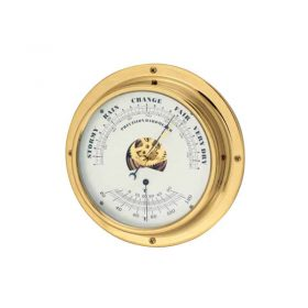 Barometer Thermom Closed Face 180mm Base