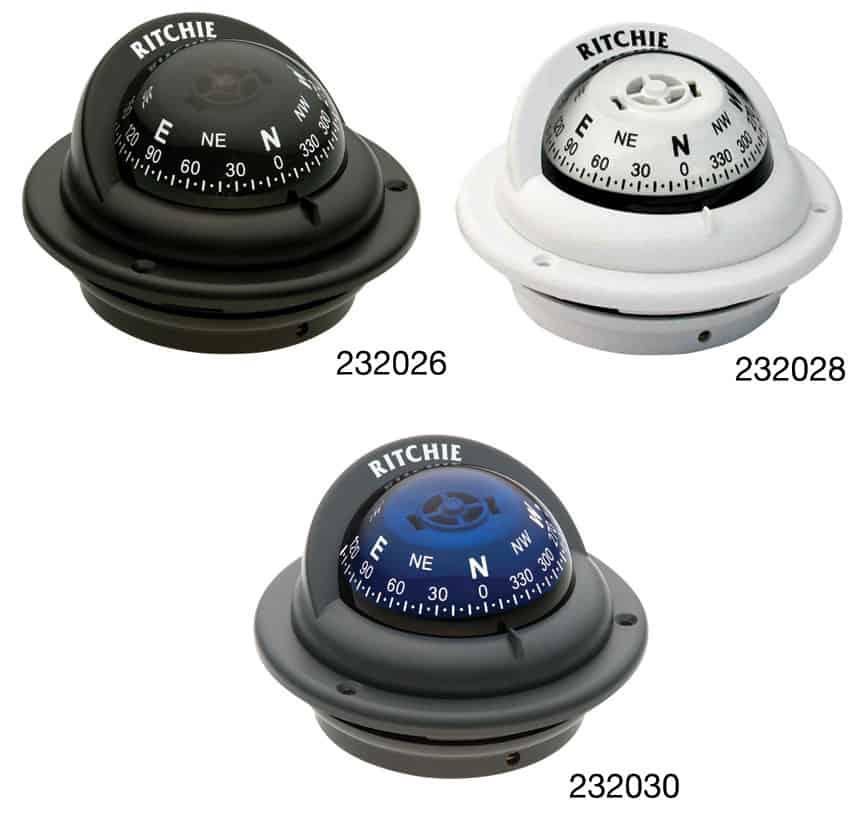 Compass Trek Flush Mount Black Tr-35