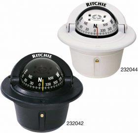 232044 Ritchie Compass - Explorer Flush Mount White F-50W