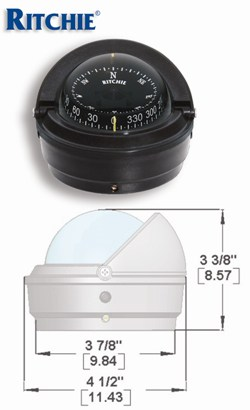 Compass Voyager Surface Mount Black S-87