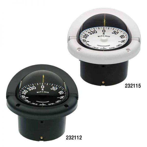 Compass Helmsman Flush Mount Black Hf-742