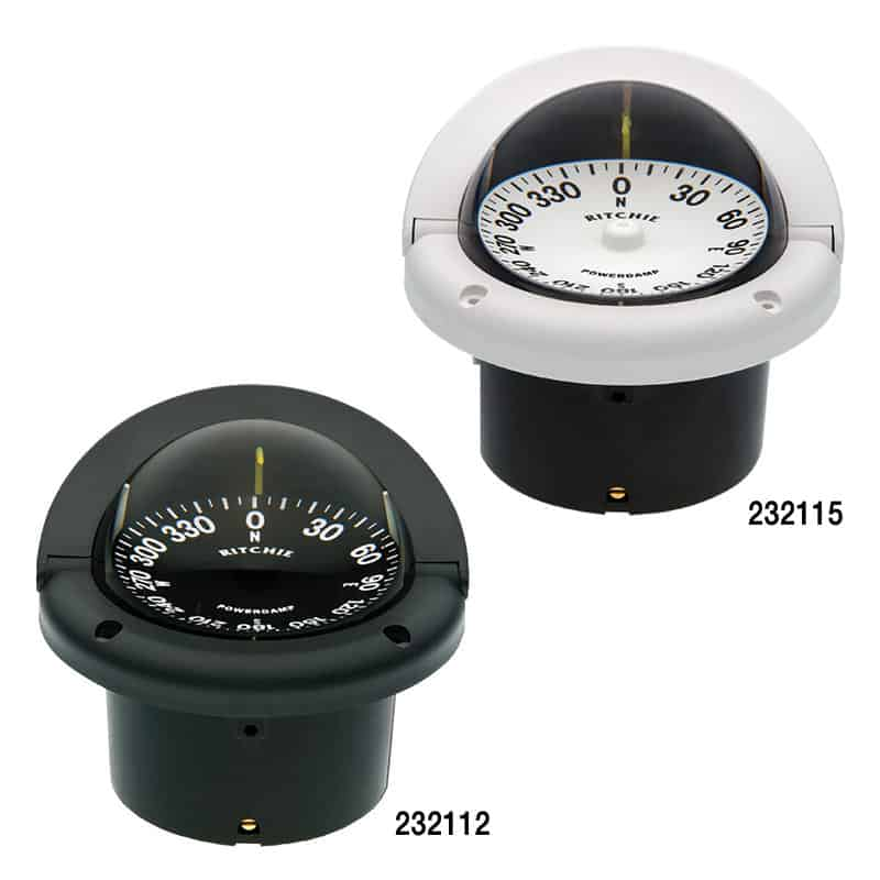 Compass Helmsman Flush Mount Black Hf-742