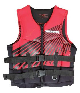 241746 1 280x326 - PFD2 Wakemaster Neoprene Black/Red Junior