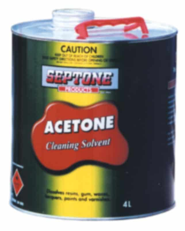 Acetone Cleaning Solvent 4L