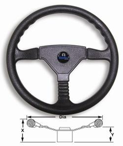 Wheel Champion Dlx Black Pvc 340mm Inc Med
