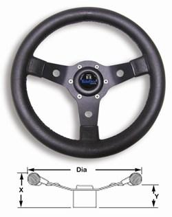Wheel Sport Black Alloy 310mm Inc Med
