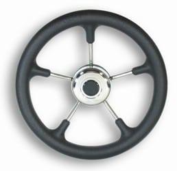 Wheel Bosun Five Spoke Black 320mm Inc Med