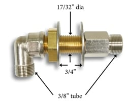 Bulkhead Fitting Kit 3/8 Hf5512