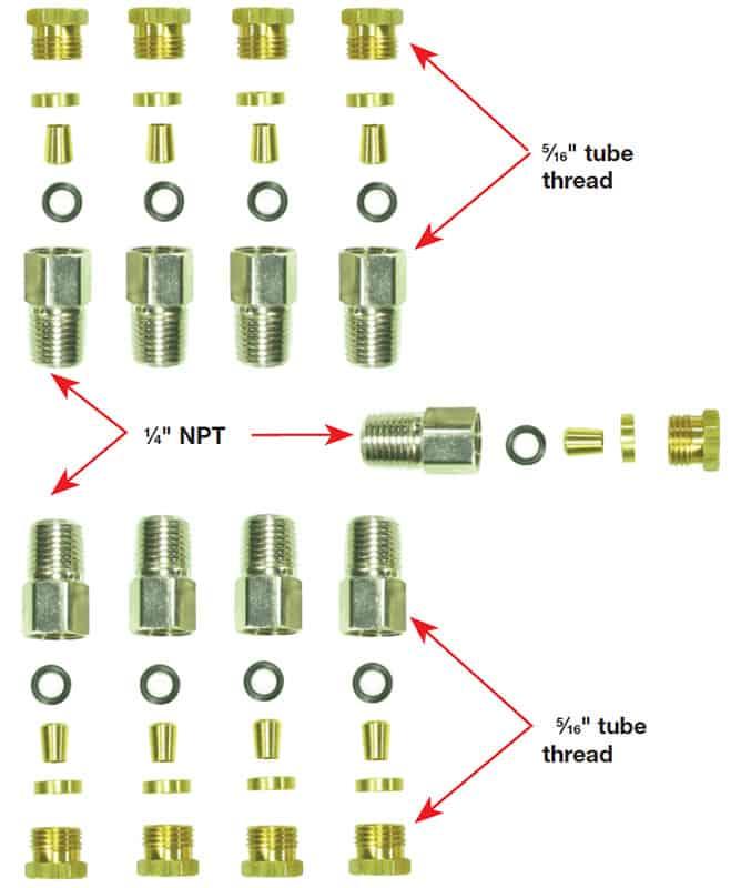 Reservalve Fit Kit 2 Engine 5/16 Nylon