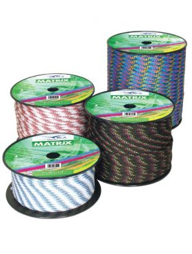 351730 BLA Matrix Double Braid Performance Rope - Pursuit Blue Red/Black/Yellow 12mmx100m