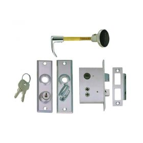 Latch Mortise C/W Key Lock Flush Strike