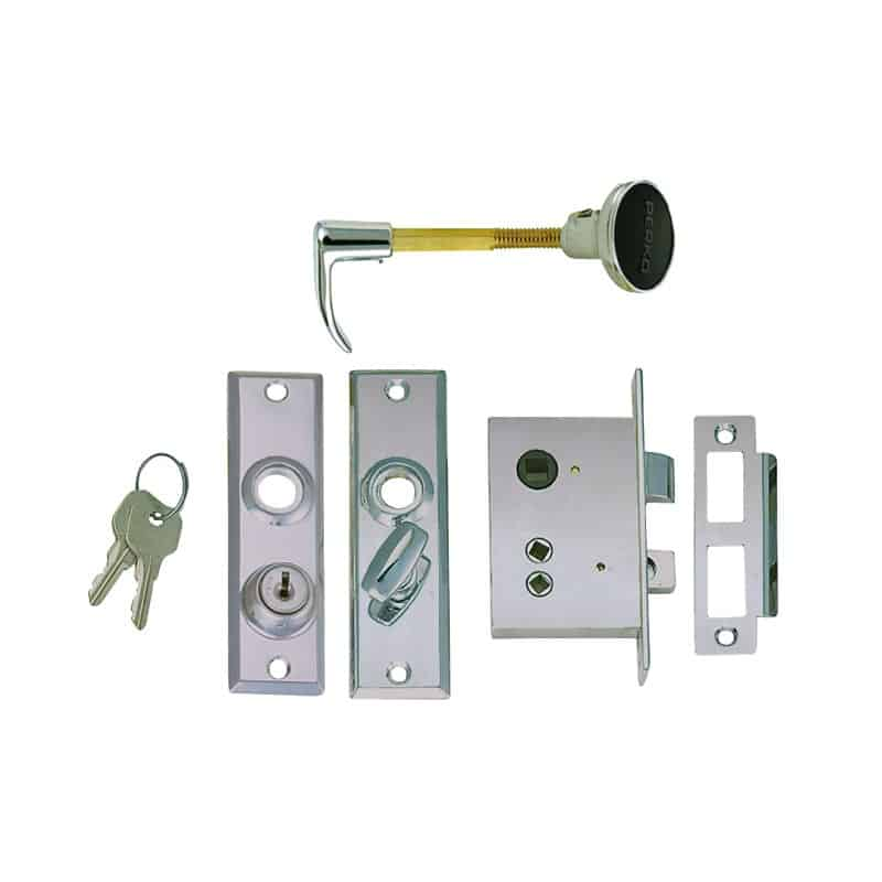 Latch Mortise C/W Key Lock Flush Strike