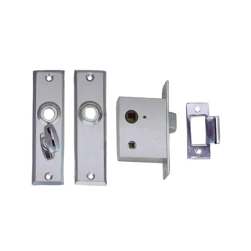 Latch Mortise C/W Priv Lock Flush Strike