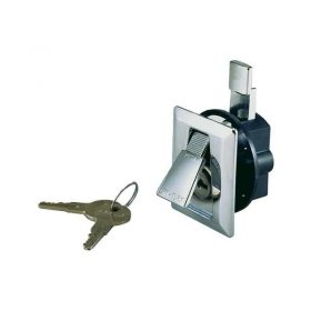 Latch Flush C/W Key Lock C/P Zinc Alloy