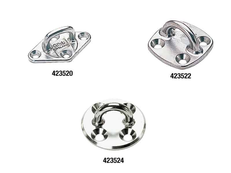 Pad Eye Diamond Stainless Steel 60X38mm