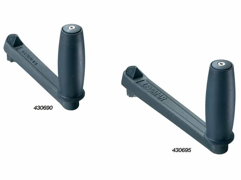 Handle Winch Single Plain Alloy 250mm