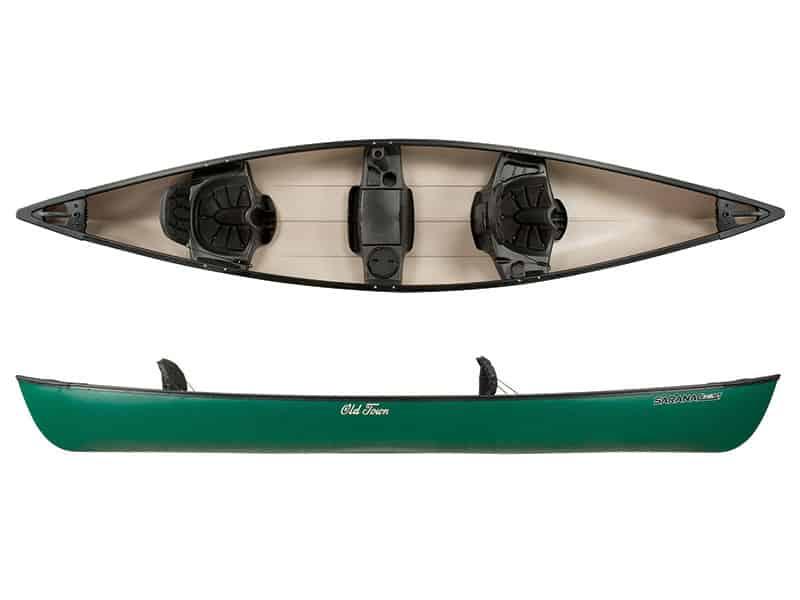 Canoe Saranac 146 Xt 3 Seat Green