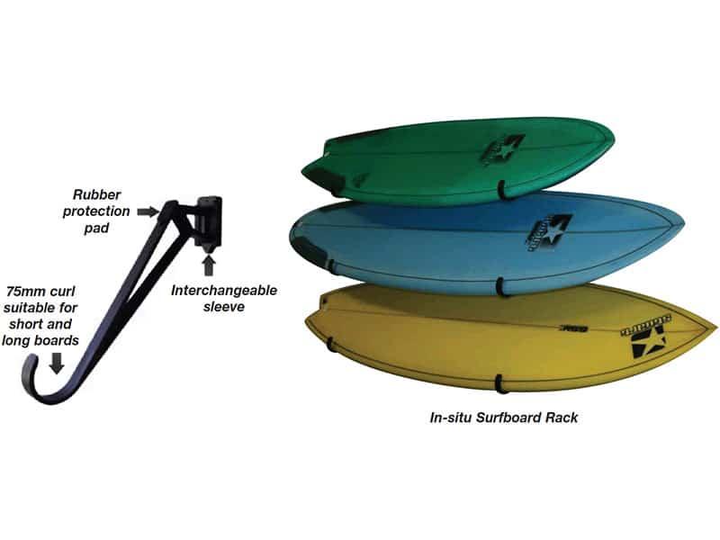 """Storage Rack Surfboard 3"""" Curl"""