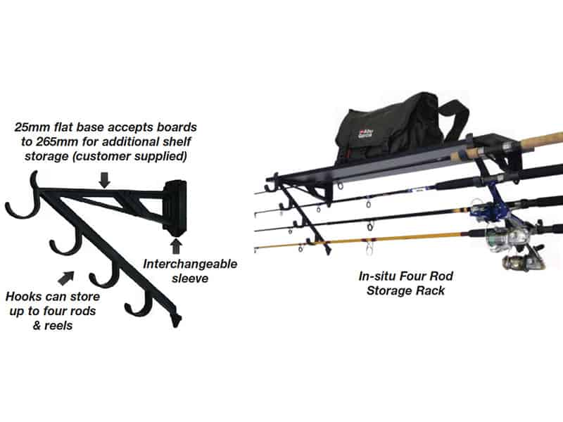 Storage Rack 4 X Fishing Rod