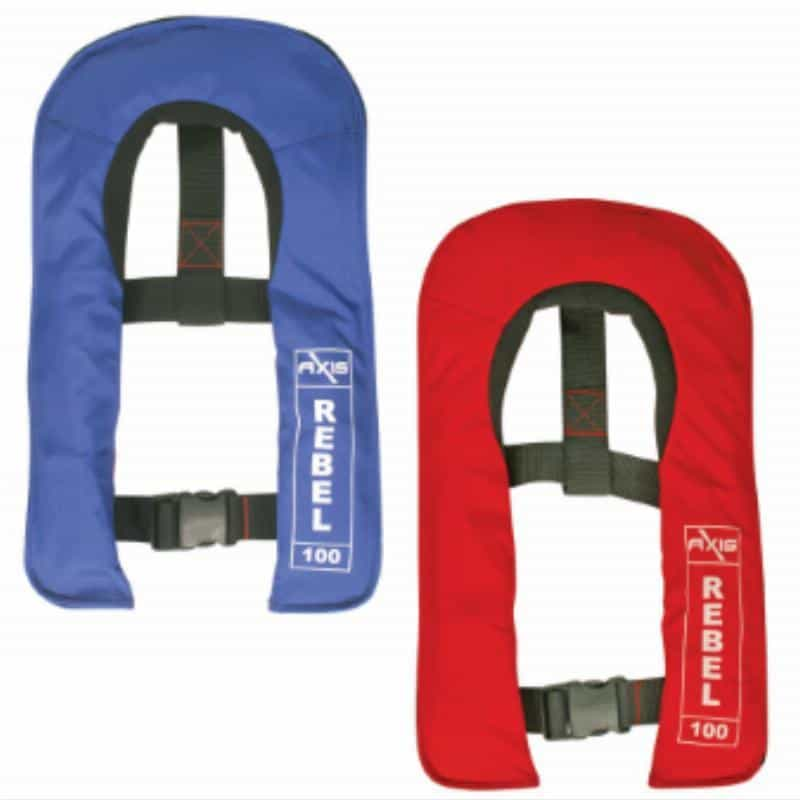 inflatable approved rebel 100 pfd junior manual inflation RWB7340 RWB7341 - Rebel 100 Junior PFD Manual Inflatable Life Jacket Level 100
