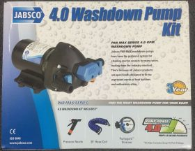 New Jabsco HotShot Washdown Pump Kit 4.0 GPM 12V 32900-0092 25 inch hose 3yr war 1